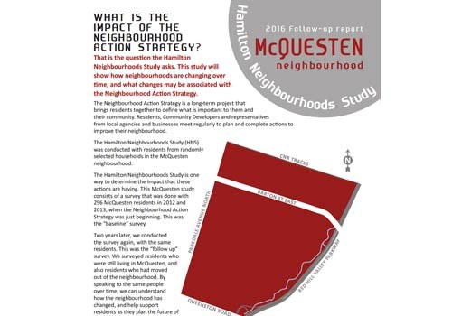 2016 Follow-up Report: McQuesten Neighbourhood