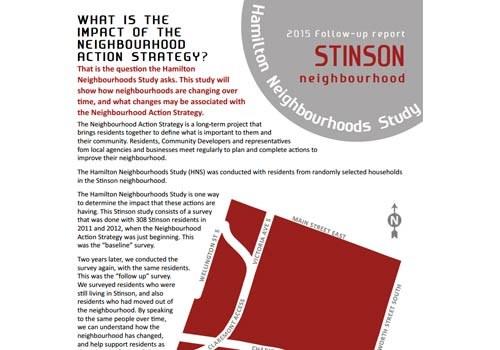 2015 Follow-up Report: Stinson Neighbourhood