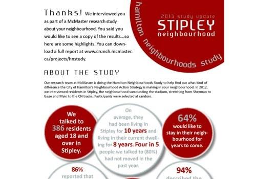 2013 Study Update: Stipley Neighbourhood Newsletter