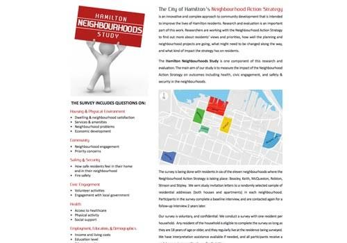 Hamilton Neighbourhoods Study Brochure