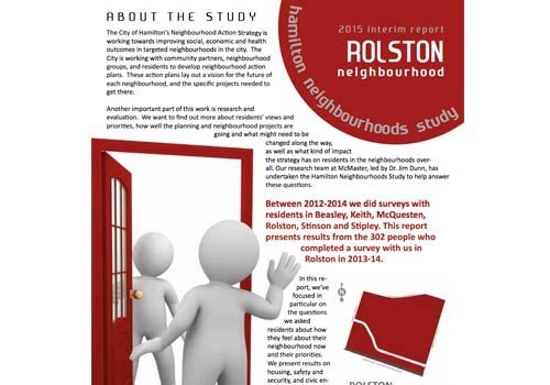 2015 Interim Report: Rolston Neighbourhood