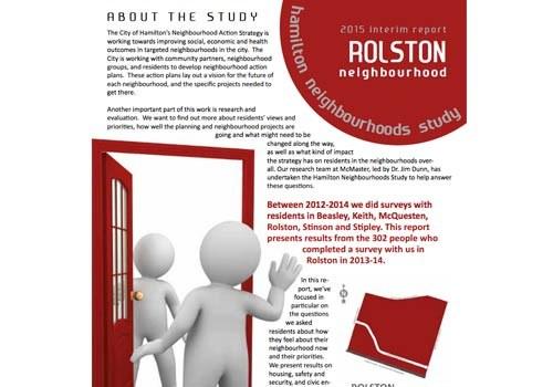2015 Interim Report: Rolston Neighbourhood