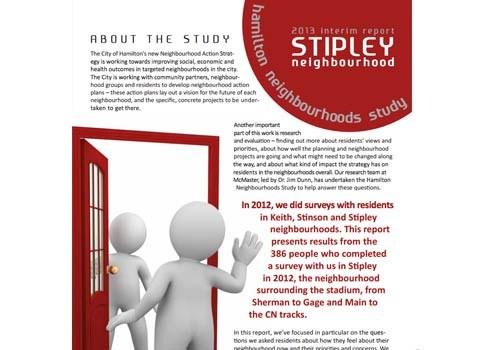 2013 Interim Report: Stipley Neighbourhood