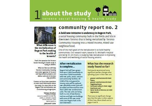 The second phase of of the study was completed in late 2013, and the second community report was released February 2014.